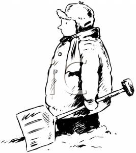 267x300 Snow Shovel Clipart