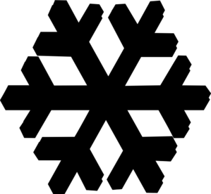 299x276 Black Snow Flake Clip Art