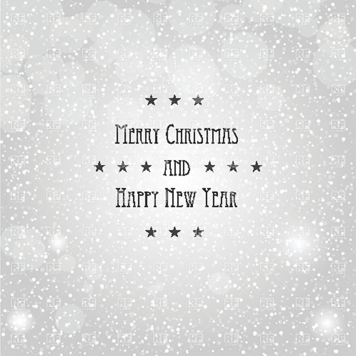 1200x1200 Christmas Greeting Card Background With Snow Vector Image Vector