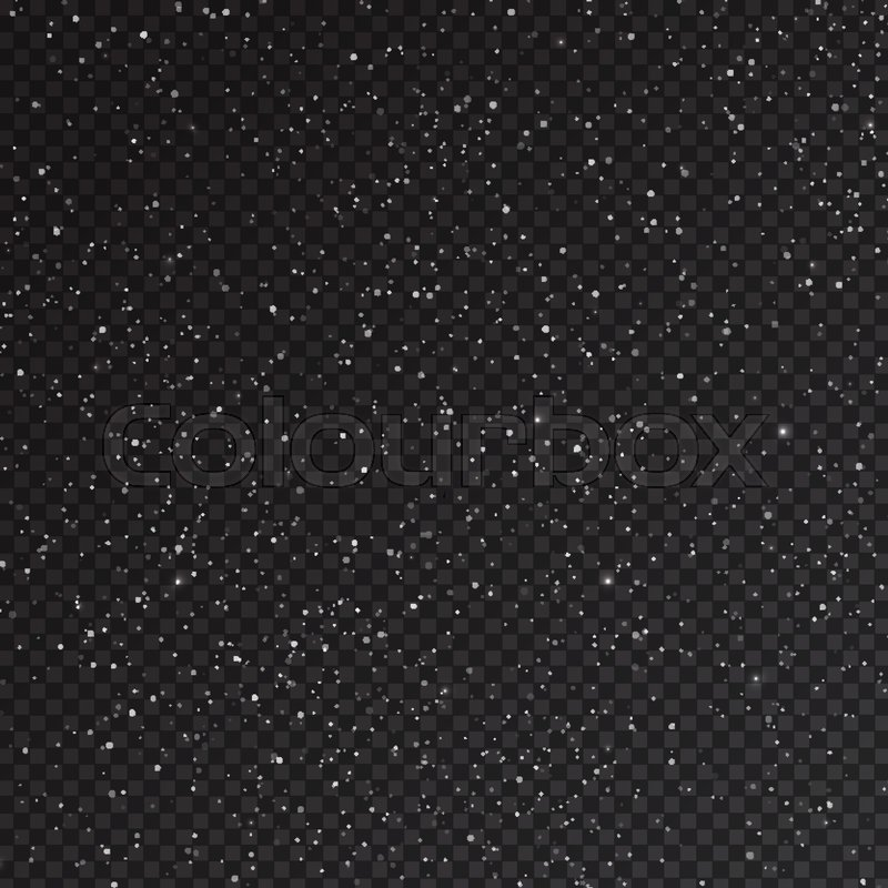 800x800 Falling Snow Isolated On Transparent Background. Realistic
