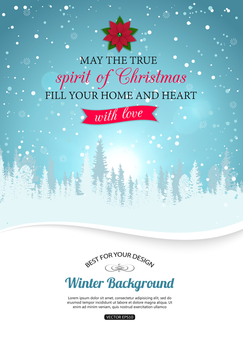 500x700 2015 Christmas Snow Winter Background Vector 01 Free Download
