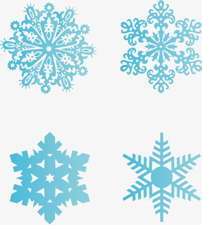 650x723 Sky Snow Snowflake Vector Material, Snow Vector, Snowflake Vector