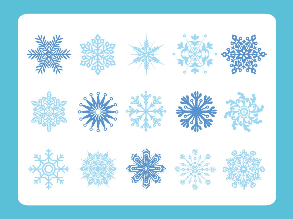 1024x765 Snow Flake Variety Vector Art Amp Graphics