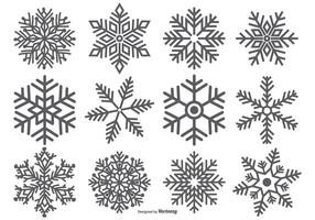 286x200 Snow Shapes Free Vector Art