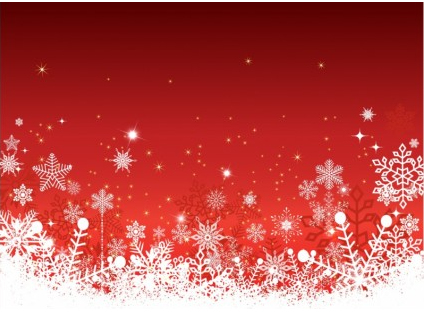 424x309 Christmas Red Background With Snow Vector Free Download