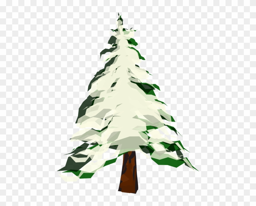 840x674 Tree With Snow Clip Art