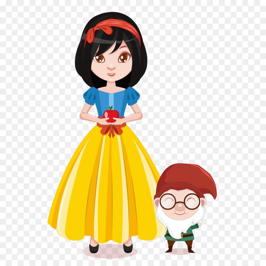 900x900 Snow White Seven Dwarfs Euclidean Vector Illustration