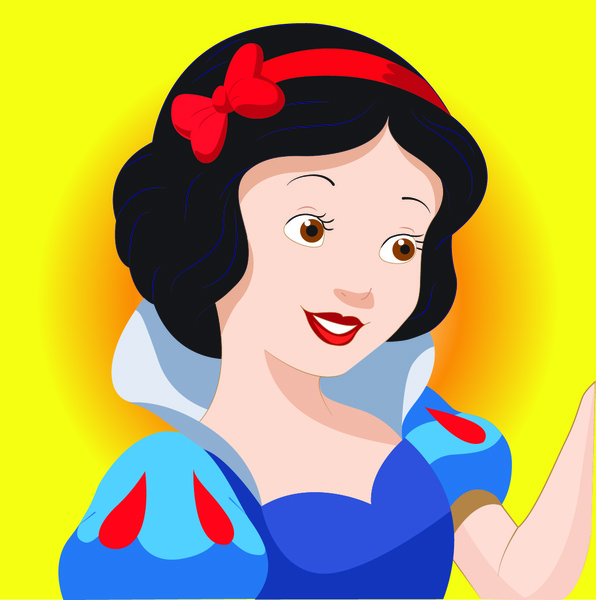 596x600 Snow White Cartoon Character Free Vector In Adobe Illustrator Ai