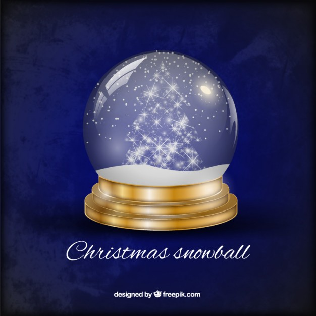626x626 Christmas Snowball Vector Free Download