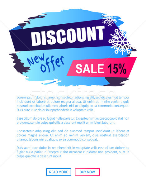 469x600 Discount New Offer 15 Sale Winter Label Snowball Vector