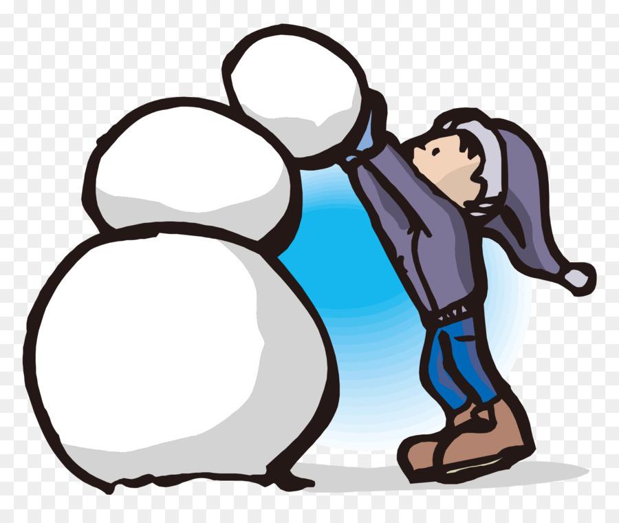 900x760 Snowman Building Clip Art