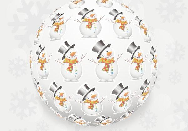 600x417 The Beautiful Christmas Snowball Vector Free Download, Jpg Files