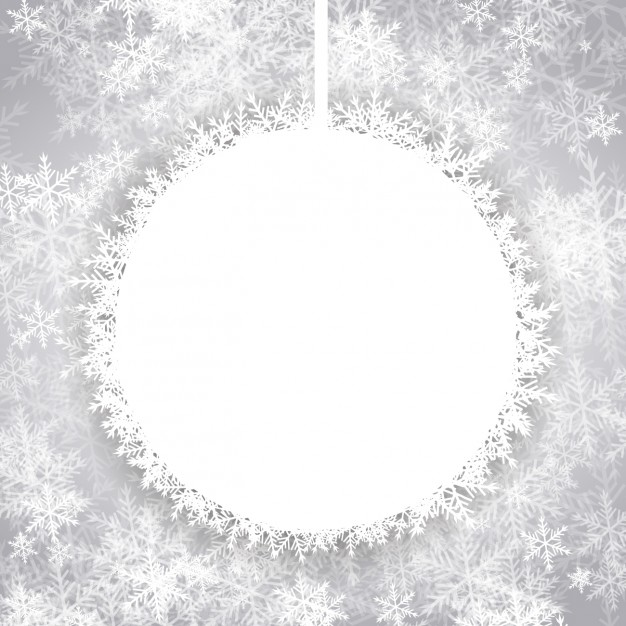 626x626 Background With Christmas Empty Snowball Vector Free Download