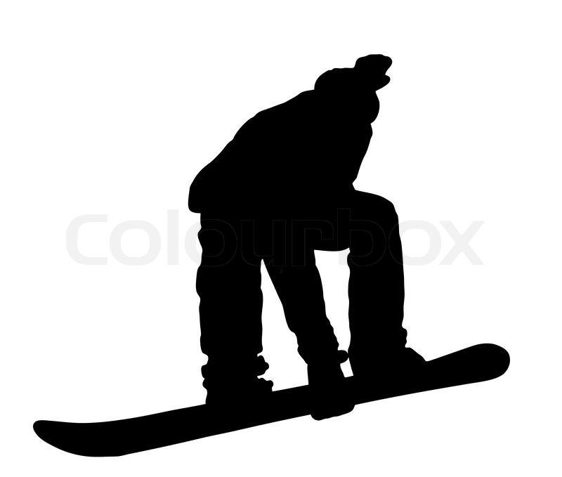 800x679 Illustration With Boy On Snowboard Stock Vector Colourbox