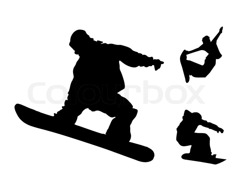 800x624 Snowboard Black Silhouette Collection
