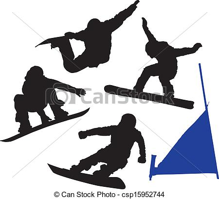 450x409 Snowboard Silhouette On White Background.