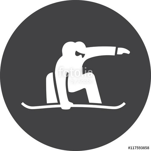 500x500 Snowboard Vector Snowboarding Icon Jump Lifestyle Sport Ski Snow