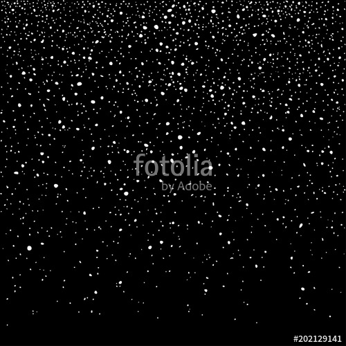 500x500 Falling Snow Flakes, Isolated On Black Background. Winter Snowfall