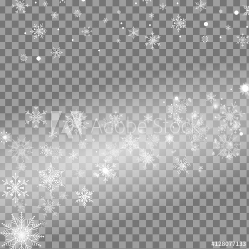 500x500 Falling Snow Isolated On Transparent Background. Snowflakes