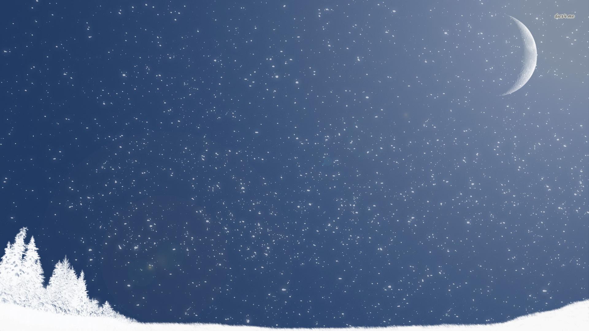 1920x1080 Snowfall Wallpaper