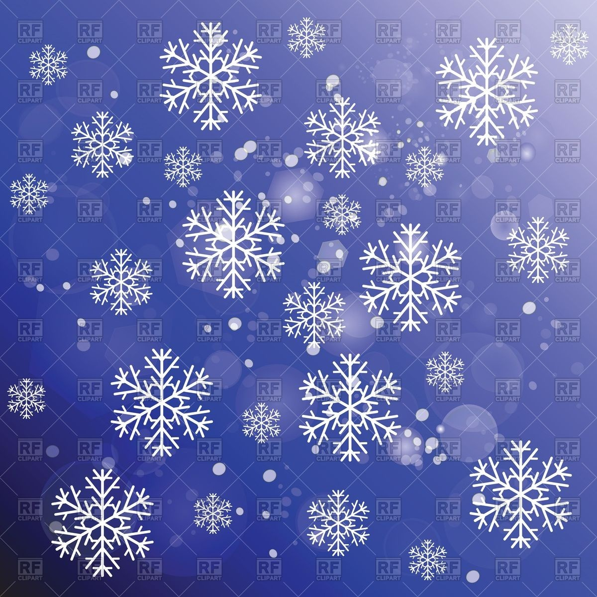 1200x1200 Winter Holiday Greeting Card With Snowflakes And Snowfall Vector
