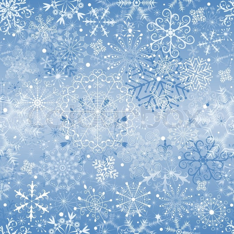 800x800 Christmas Blue And Silvery Seamless Pattern With Snowfall Vector