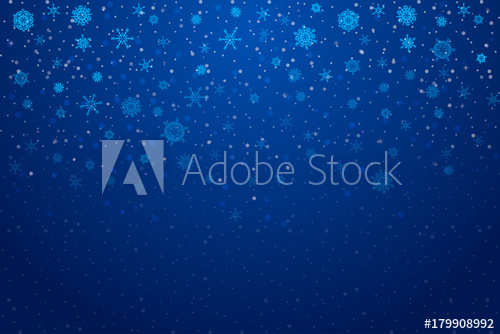 500x334 Christmas Snow. Falling Snowflakes On Deep Blue Background