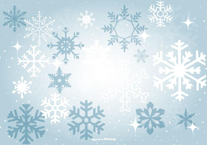700x490 Beautiful Blue Snowflake Background