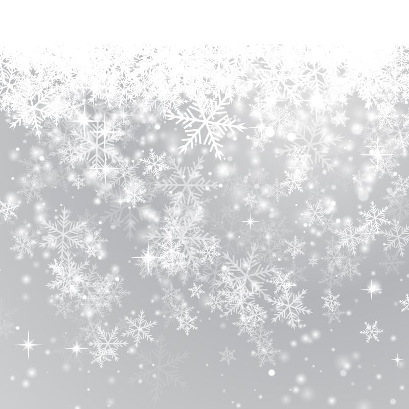 800x800 Fine Winter Snowflake Background Vector Material