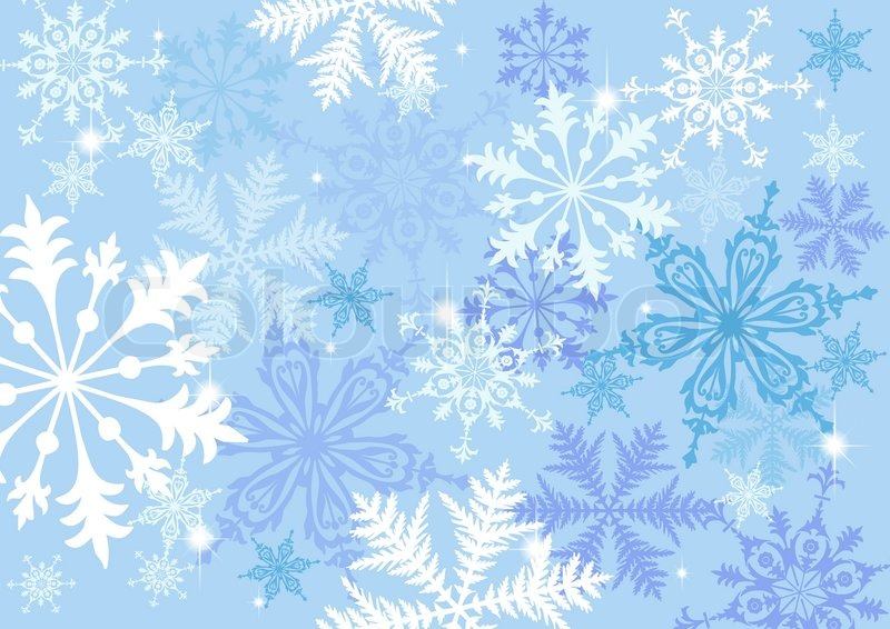 800x566 Snowflake Background Stock Vector Colourbox
