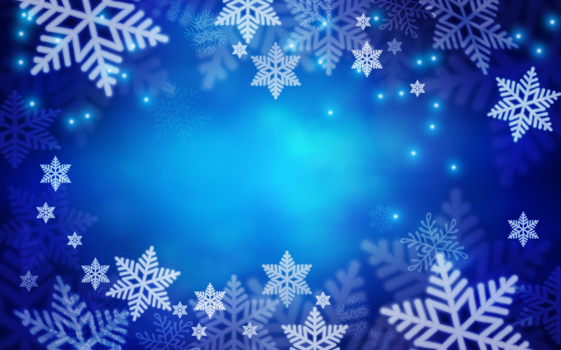 800x500 Snowflake Background Vector Free Vector Graphic Download