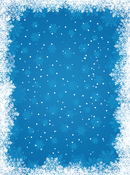 423x570 Blue Snowflake Background