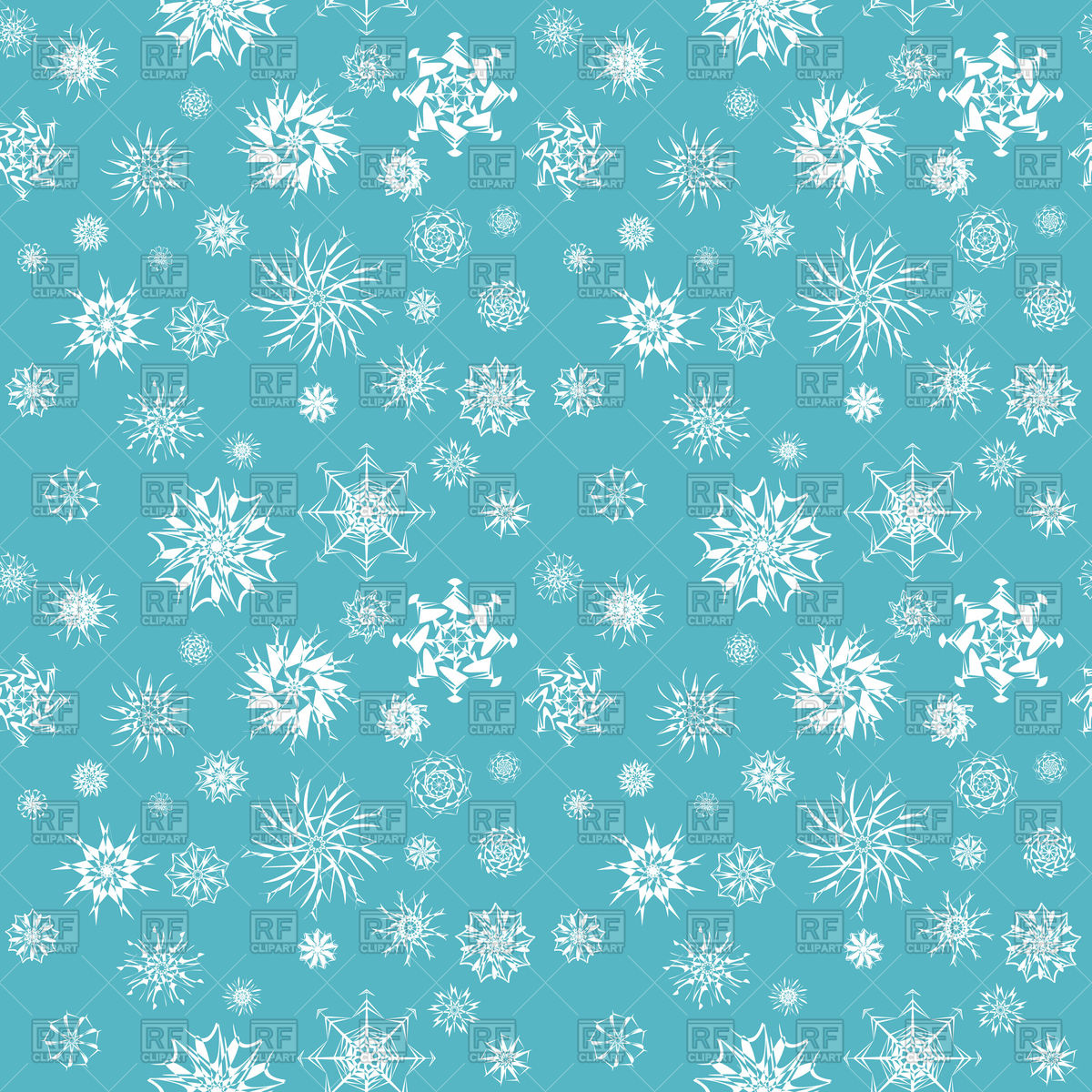 1200x1200 White Christmas Snowflakes On Blue Background Vector Image