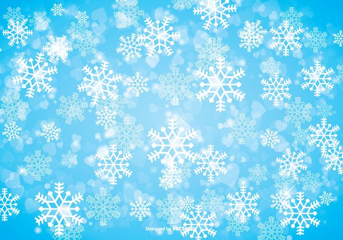 700x490 Winter Snowflake Background
