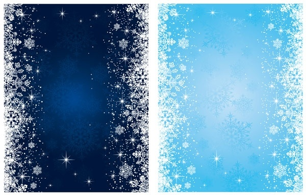 600x384 Blue Snowflake Background Vector Free Vector In Encapsulated