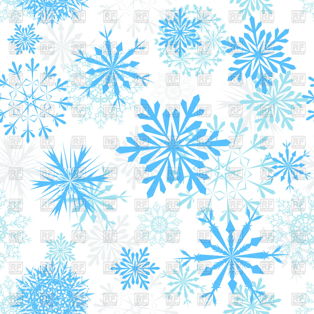 1200x1200 Blue Snowflakes Background Vector Image Vector Artwork Of