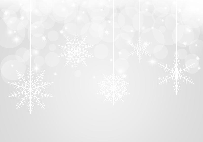 800x560 Bokeh Snowflake Vector Background