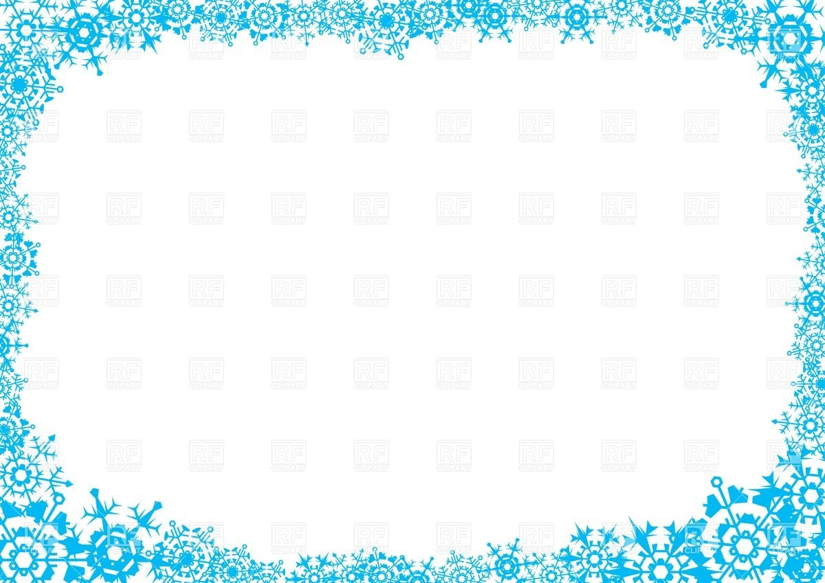1200x849 Frost Frame With Snowflakes