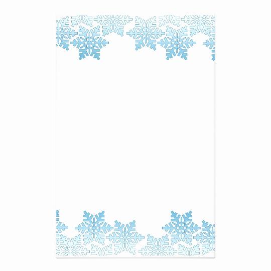 540x540 Letterhead Borders Vector Elegant Light Blue Snowflake Border