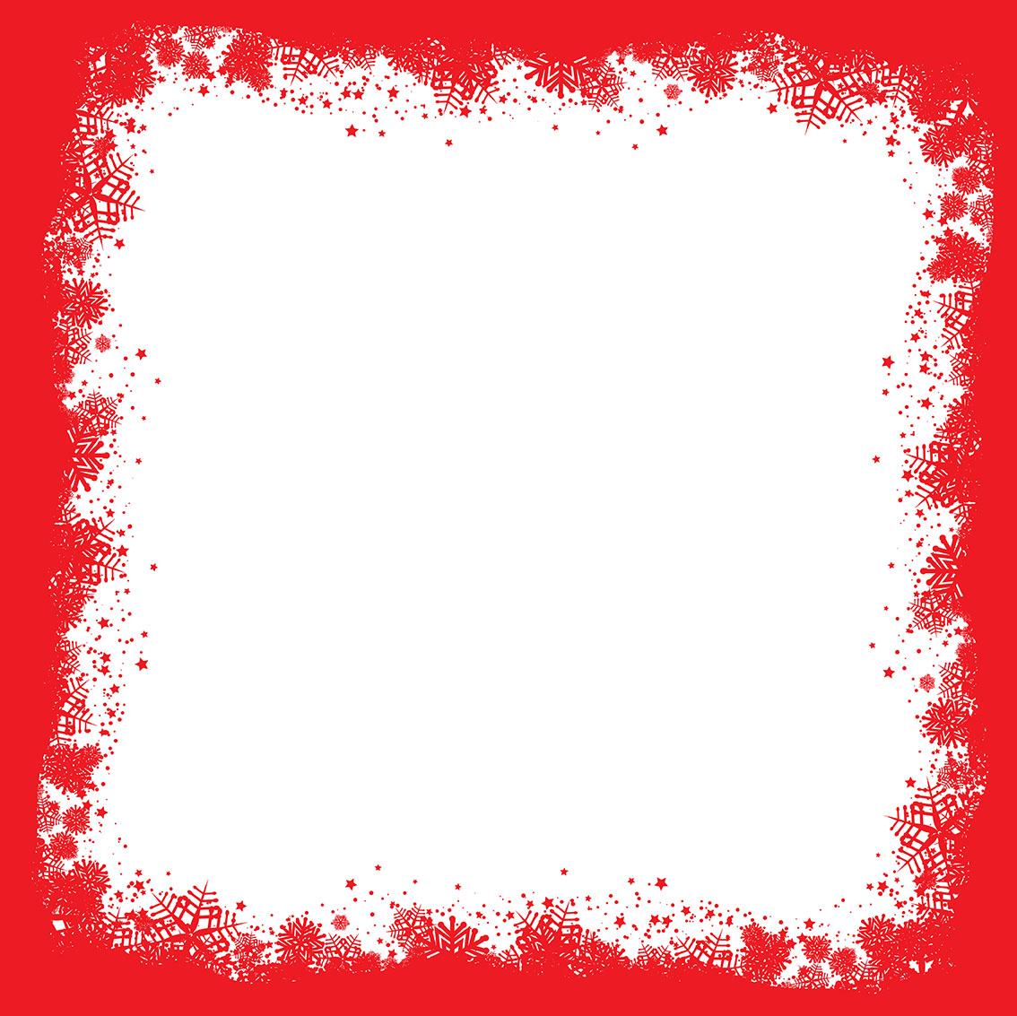 1134x1133 Snowflake Border Free Vector Art