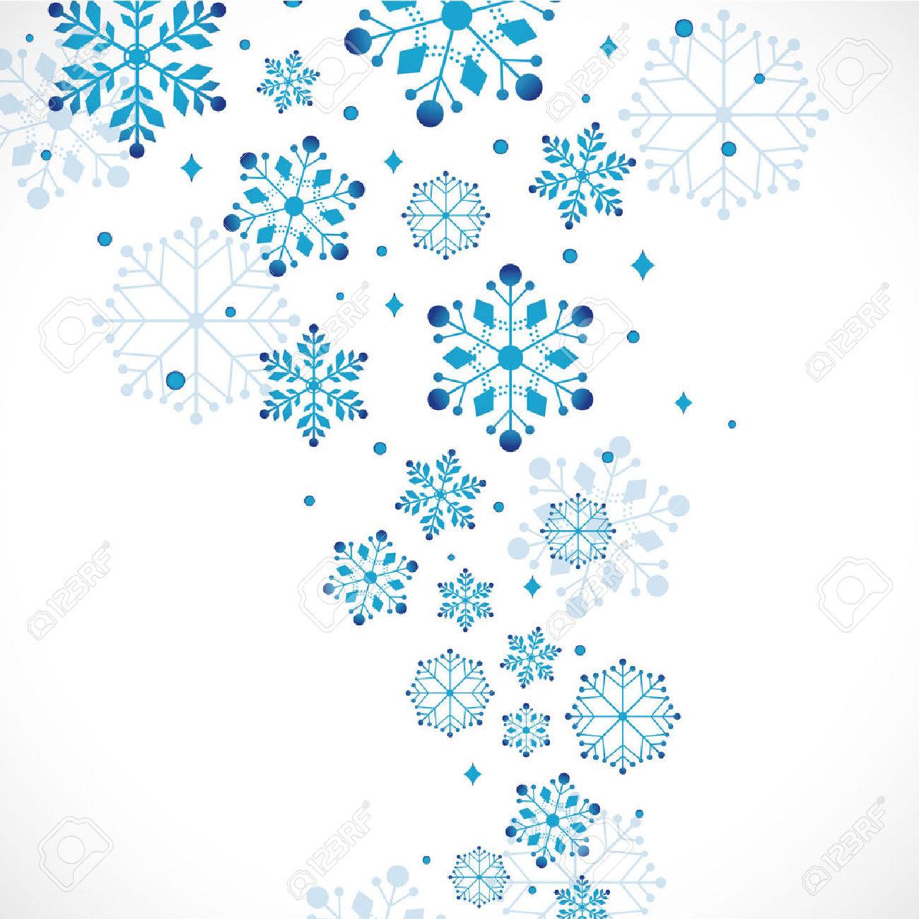 1300x1300 Collection Of Christmas Snowflake Clipart Border High