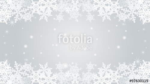 500x282 Snowflake Border Frame Silver Color Stock Image And Royalty Free