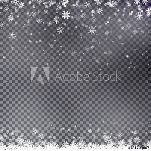 500x500 Snowflake Border Vector. Christmas Falling Snow.