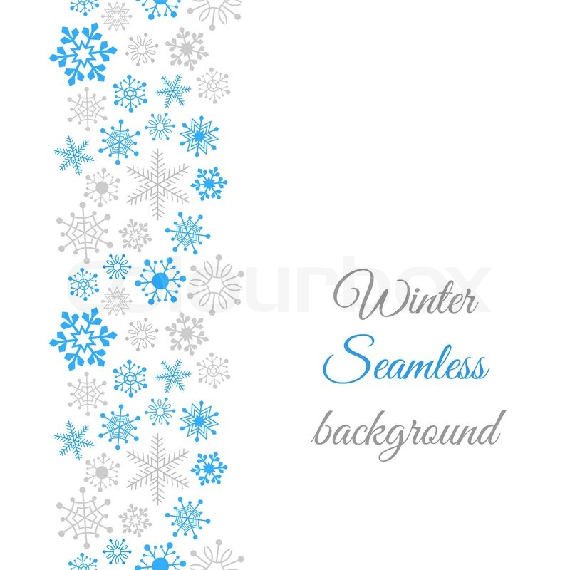 800x800 Winter Border Seamless Background With Snowflakes Stock Vector