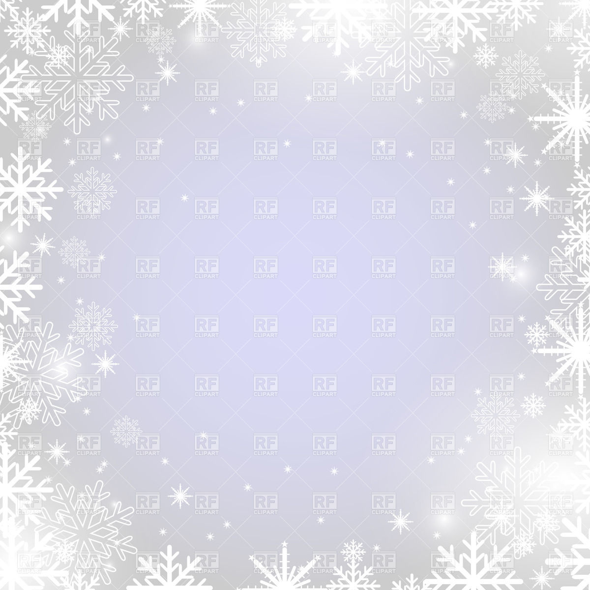 1200x1200 Winter Frame With Snowflakes Vector Image Vector Artwork Of