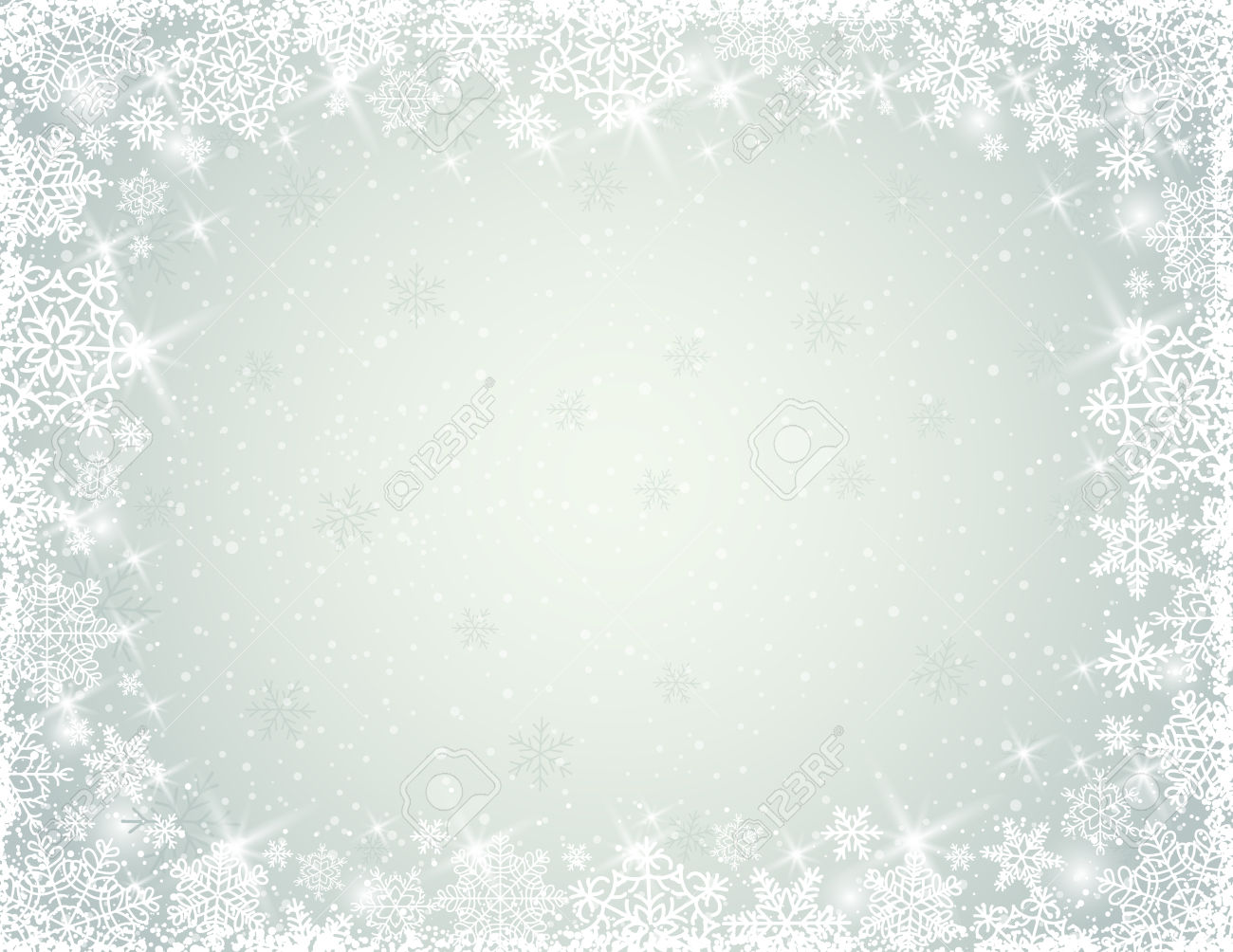 1300x1004 Grey Background With Snowflakes, Vector Deve