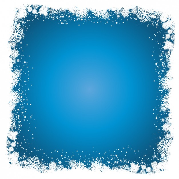 626x626 Blue Background With Snoflake Frame Vector Free Download