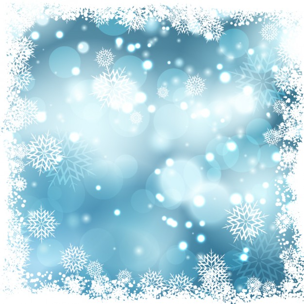 626x626 Blue Bokeh Background With Snow Borders Vector Free Download
