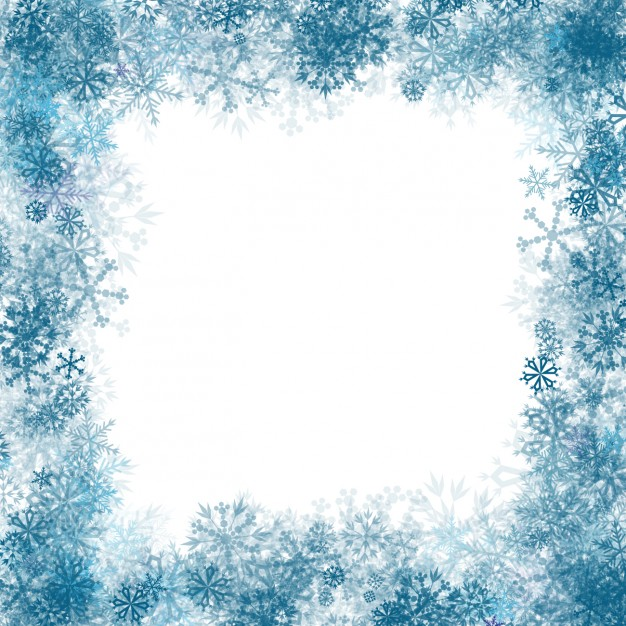 626x626 Blue Snowflakes Frame Vector Free Download