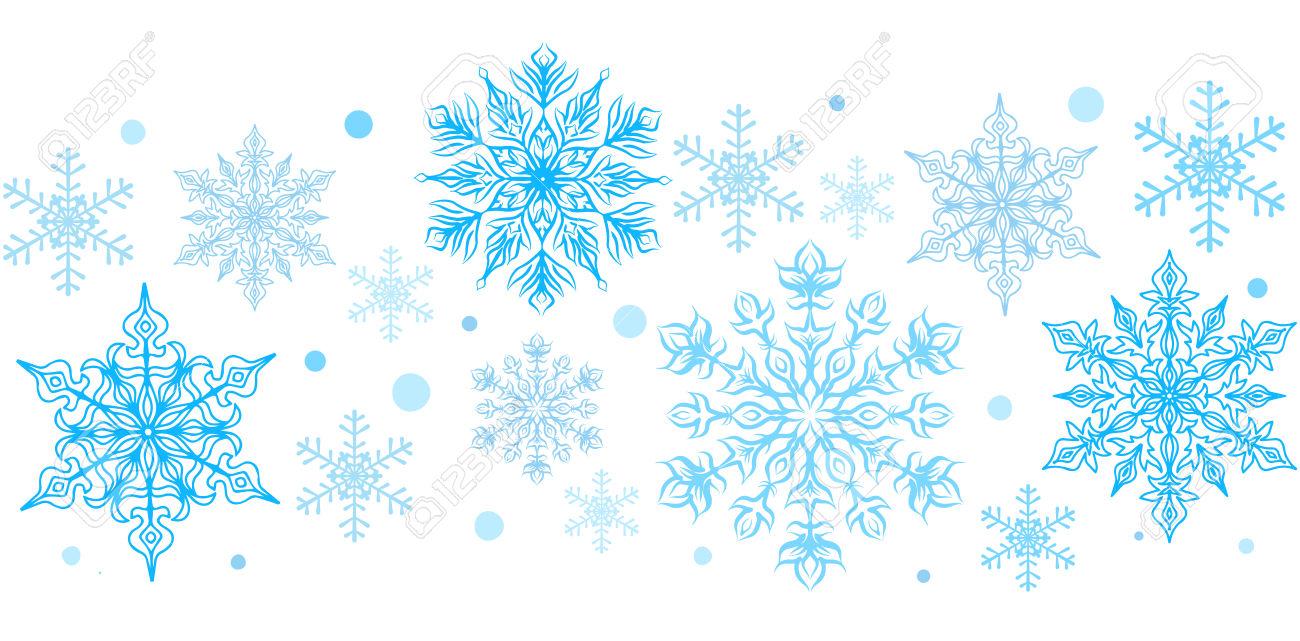 1300x641 Border Clipart Free Snowflake